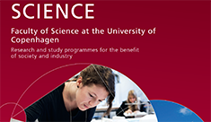 Brochure about the Faculty of Science: Research and study programme for the benefit of society and industry
