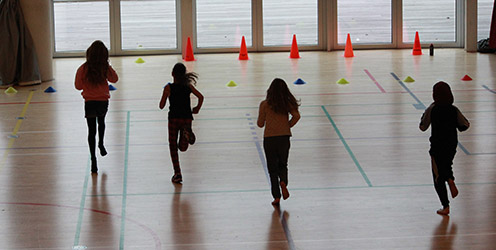 The study included running and team sport play. The picture is from a similar study conducted by the Centre for Team Sport and Health. Photo: Hanne Kokkegård