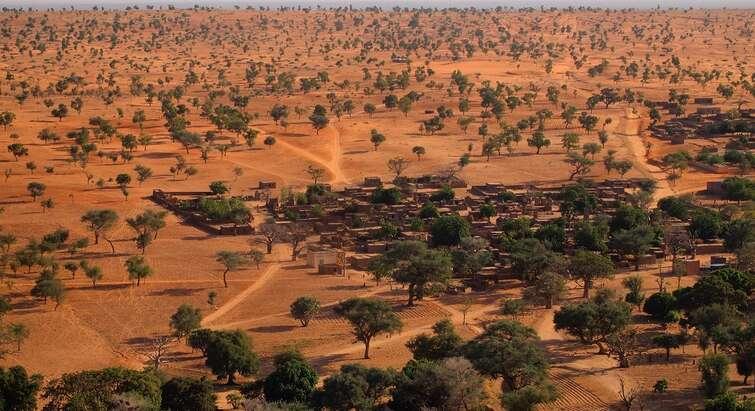 Dryland landscape in Africa
