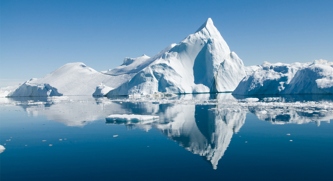 Photo of the ice melting in The Arctic Sea