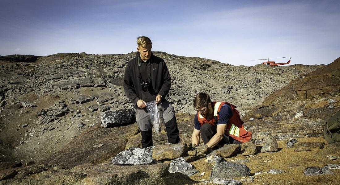 Foto af Will Hyde og Kristoffer Szilas i Grønland