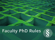 Rules and guidelines for the PhD programme