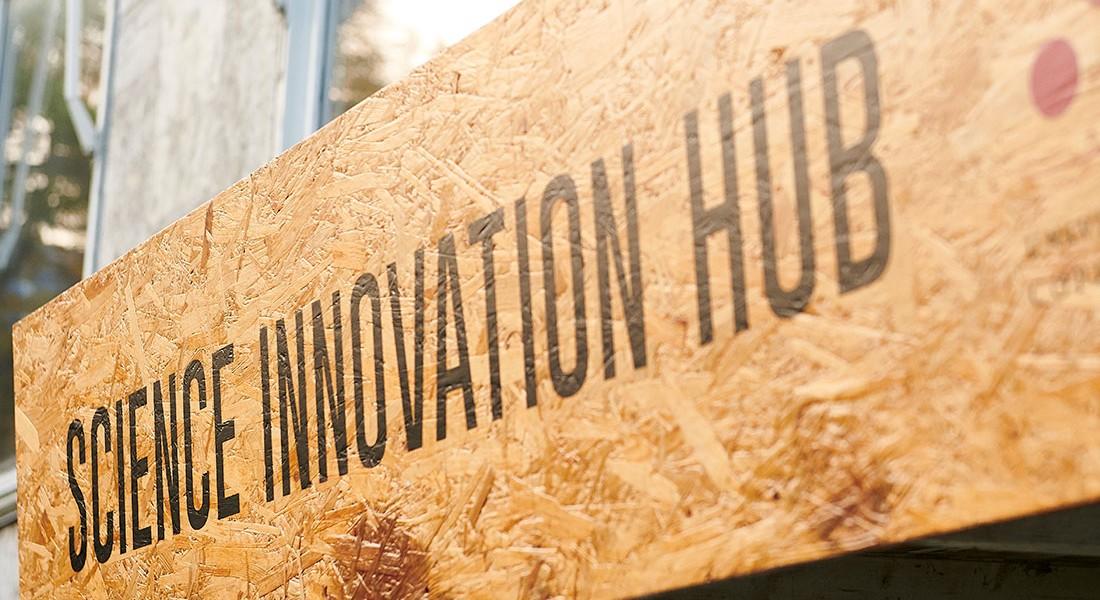 SCIENCE Innovation Hub sign